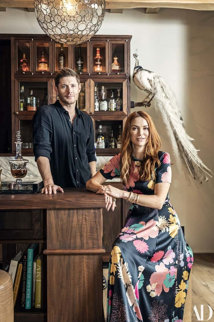 jensen ackles bar in his home in austin texas
